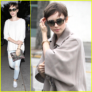 Lily Collins Treats Mom Jill To Dinner At Craig's
