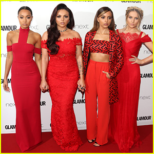 Little Mix Slays in Red at Glamour Women of the Year Awards 2015!