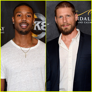 Michael B. Jordan Runs into Fellow 'Friday Night Lights' Alum Matt Lauria in Las Vegas