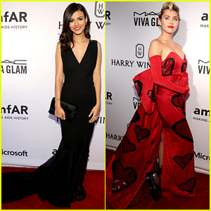 Victoria Justice Glams Up for amfAR Gala with Miley Cyrus!