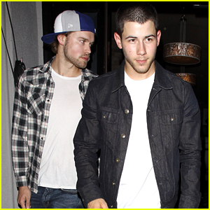 Nick Jonas & Chord Overstreeet Catch Ed Sheeran's Show In Hollywood