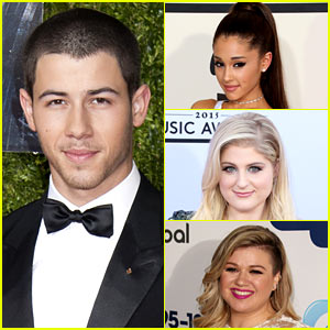 Nick Jonas Plays 'Lips, Wife, Leave' with Ariana, Meghan, & Kelly!