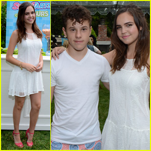 Bailee Madison Meets Up With Nolan Gould at the JJ Summer Bash Presented by SweeTARTS Chewy Sours