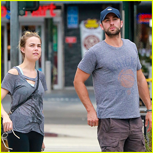Chace Crawford Lunches with 'Blood & Oil' Co-star Rebecca Rittenhouse