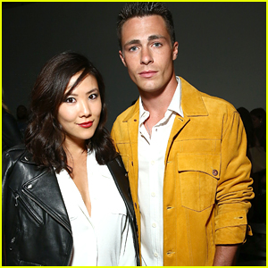 Colton Haynes Brings BFF Ally Maki To New York Men's Fashion Week