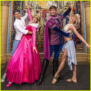 Derek & Julianne Hough Dance With Princess Aurora & Prince Phillip at Magic Kingdom