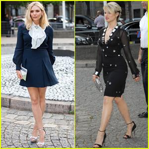 Elizabeth Olsen & Dianna Agron Get Dressy for Miu Miu Launch