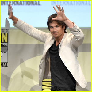 Watch Ian Somerhalder Make Out With Chris Wood in Delena Kiss Reenactment!