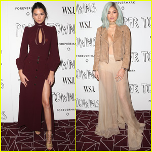 Kendall Jenner Gets Dressy for 'Paper Towns' Screening With Sister Kylie
