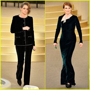 Kristen Stewart & Julianne Moore Are Fashionable Team for Karl Lagerfeld at Paris Fashion Week!