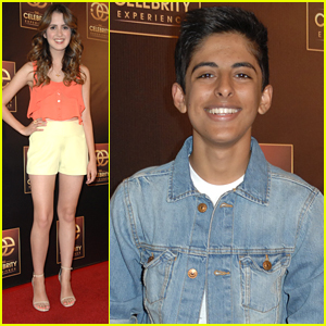 Laura Marano & Karan Brar Step Out For The Celebrity Experience