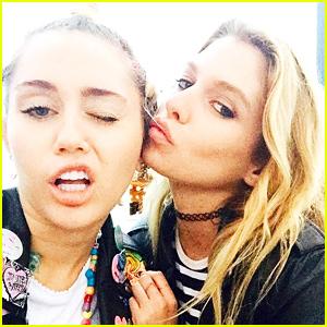 Miley Cyrus & Stella Maxwell Seen Kissing!