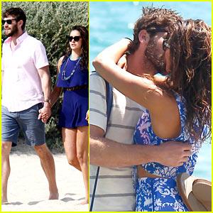 Nina Dobrev Kisses Boyfriend Austin Stowell in St. Tropez