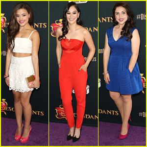Sarah Jeffrey, Dianne Doan & Brenna D'Amico Cast A Magic Spell Over 'Descendants' Premiere
