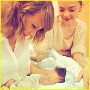 Taylor Swift Meets Her Godson Leo Thames!