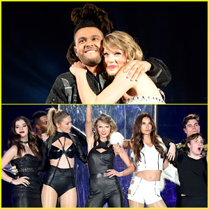 Taylor Swift Brings Four 'Bad Blood' Video Stars On Stage in New Jersey! (Video)