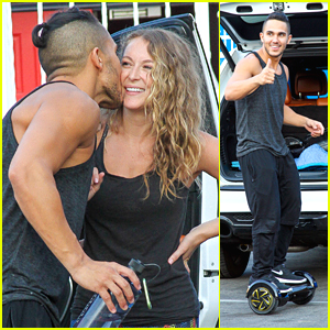 Carlos PenaVega Rides His eVoy Handless Segway Into 'DWTS' Practice with Wife Alexa