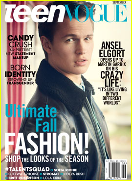 Ansel Elgort is Dreamy for 'Teen Vogue' September 2015 Cover!