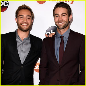Ed Westwick & Chace Crawford Have Fun at ABC Party!