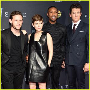 Michael B. Jordan & Kate Mara Premiere 'Fantastic Four' in Brooklyn