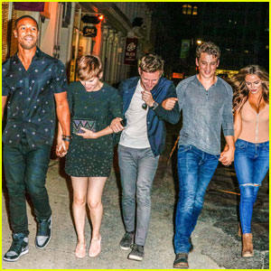 The 'Fantastic Four' Cast Walks Hand-in-Ha
