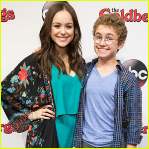 Hayley Orrantia & Sean Giambrone Rep 'The Goldbergs' at D23 Expo 2015