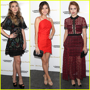 G Hannelius & Holland Roden Support Imogen Poots At 'She's Funny That Way' Premiere