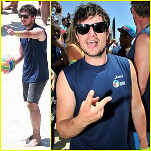 Josh Hutcherson Gets His Game On at Celebrity Charity Volleyball Match!