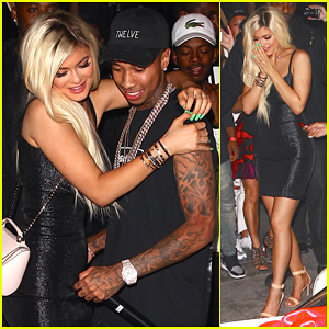 Kylie Jenner Gets Surprise Ferrari from Tyga at 18th Birthday Bash!