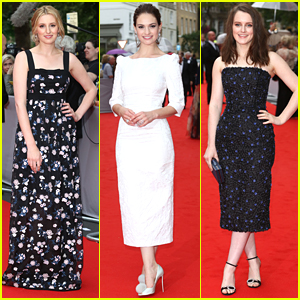 Laura Carmichael & Lily James Step Out For The 'Downton Abbey' BAFTA Tribute