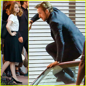 Ryan Gosling Runs After Emma Stone While Filming 'La La Land'