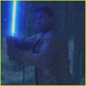 Watch John Boyega Fight With His Blue Lightsaber in New 'Star Wars' Teaser!