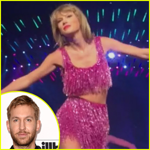 Taylor Swift Mouths 'I Love You' at Concert in the Direction of Calvin Harris (Video)!