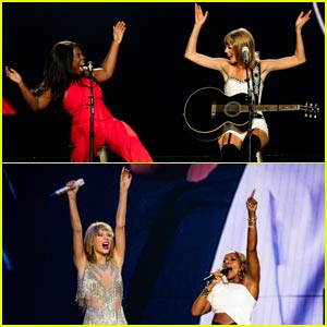 Taylor Swift Sings Two Duets With Mary J. Blige in L.A. - Watch Now!
