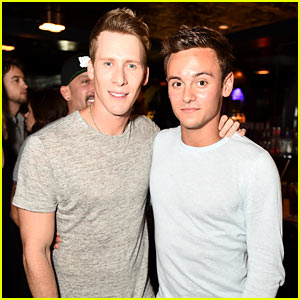 Tom Daley Goes to Wonderland with Boyfriend Dustin Lance Black!