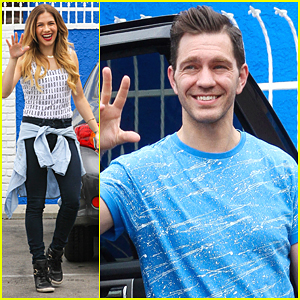 Allison Holker & Andy Grammer Hug It Out After 'DWTS' Practice