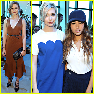 Beauty Bloggers Amanda Steele & Kristina Bazan Step Out For Lacoste Spring 2016 Show at NYFW