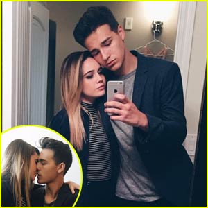 Jacob Whitesides & Bea Miller Kiss it Up at MTV VMA