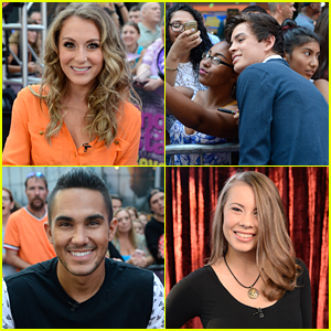 Hayes Grier & Carlos PenaVega Join Almost Full 'DWTS' Cast on Good Morning America - See The Pics