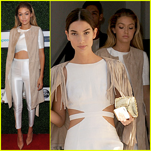 Gigi Hadid Supports Serena Williams at NYFW with Lily Aldridge!