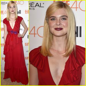 Elle Fanning is a Lady in Red at 'Trumbo' TIFF Premiere
