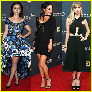 Lily Collins & Vanessa Hudgens Wow at Jeremy Scott's Premiere In Hollywood