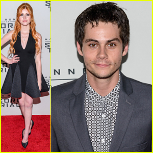 Dylan O'Brien & Katherine McNamara Premiere 'Scorch Trials' In New York City