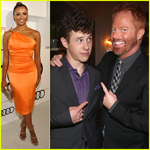 Nolan Gould & Kat Graham Celebrate 2015 Emmy Awards With Audi