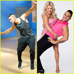 Carlos PenaVega & Witney Carson Do Push Ups Before DWTS Practice