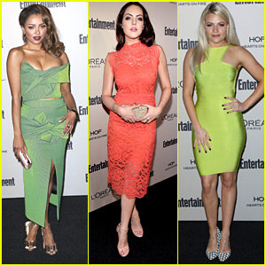 Kat Graham & Elizabeth Gillies Hit Up Entertainment Weeky's Pre-Emmy Party