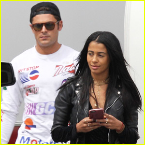 Zac Efron Gets a Visit From Girlfriend Sami Miro on Set of 'Neighbors 2'