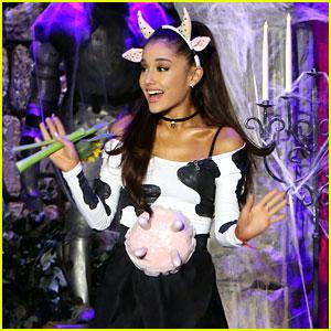 Ariana Grande's Halloween Costume: Sexy Cow!
