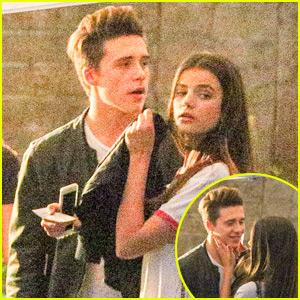 Brooklyn Beckham Cozies Up to Rumored Girlfriend Sonia Ben Ammar