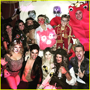 Emma Slater Hits Halloween Party With Derek Hough & Sharna Burgess After DWTS Elimination